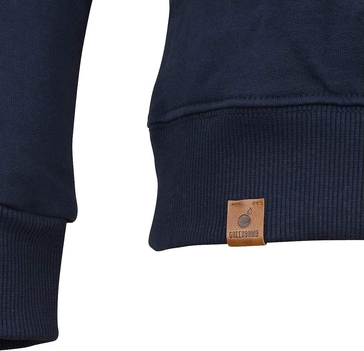 Greenbomb Männer Sweatshirt Bike Badge blau Dunkelblau