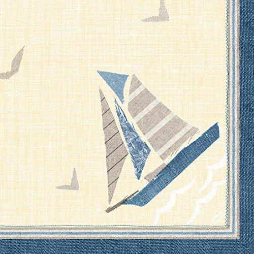 Duni Duni Klassik-Servietten Seaway 40 x 40 cm 4lagig, geprägt, 1/4 Falz 50 Stück