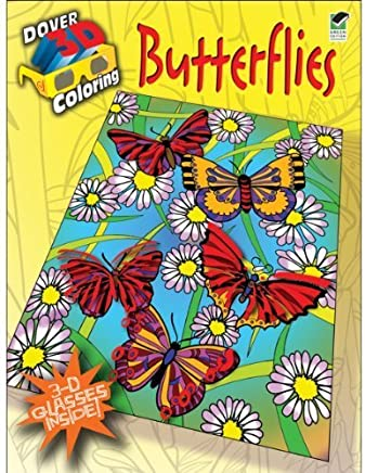 3-D Coloring Book--Butterflies (Dover 3-D Coloring Book) by Jessica Mazurkiewicz (2011-01-17)