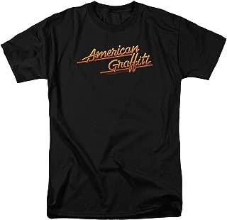 American Graffiti 1973 Comedy Movie Lucas Neon Logo Adult Mens T Shirt Tee