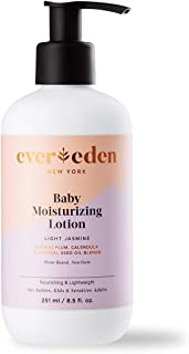 Evereden Baby Moisturizing Lotion: Light Jasmine 8.5 fl oz. | Clean and Natural Baby Lotion | Non-toxic | Plant-based and ...