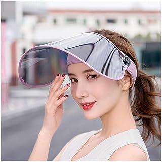 GJPSXTY Visor de Lente Transpirable y cómodo para Mujer Casual Sun Hat Multiuso Sombrero de Copa vacío Sombrero Grande Transpirable Sombrero de Montar