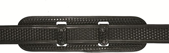 TUFF Duty Back Support with Extended Keepers (2 Extended Black Basketweave Keepers, W ks with All Duty Belts)