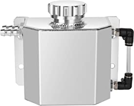 Universal 1L Alloy Aluminium Water Overflow Expansion Coolant Tank Reservoir Bottle with Drain Plug(Polished)