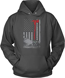 Vintage Firefighter Red Axe USA Flag Awesome Ideas Unisex Hoodies