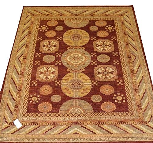 "Chobi Ziegler Handmade Afghan Rug 9'2"" x 7'11"""