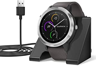 EEweca Charger Stand Compatible with Garmin Fenix 5,6/ Forerunner 35,45,235,245,935,945/ Vivoactive 3 Replacement Charging Dock Station with 3.3 ft USB Cable