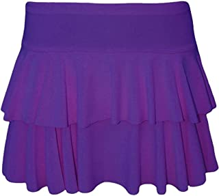 Rimi Hanger Womens 2 Layer Frill RARA Skirt Ladies Party Dance Wear Mini Fancy Dress Skirt S/XL