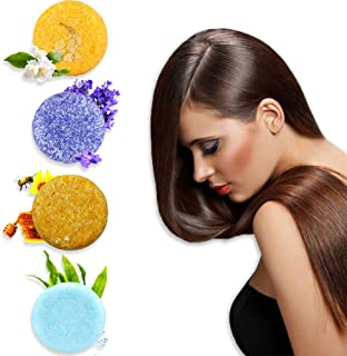 Sienon Solid Shampoo Bar, Natural Shampoo Bars for Hair,4 Pieces Solid Shampoo Soap with Plant Essence for Dry & Oily & Damaged Hair, Promotes Healthy Hair Growth and Stop Hair Loss