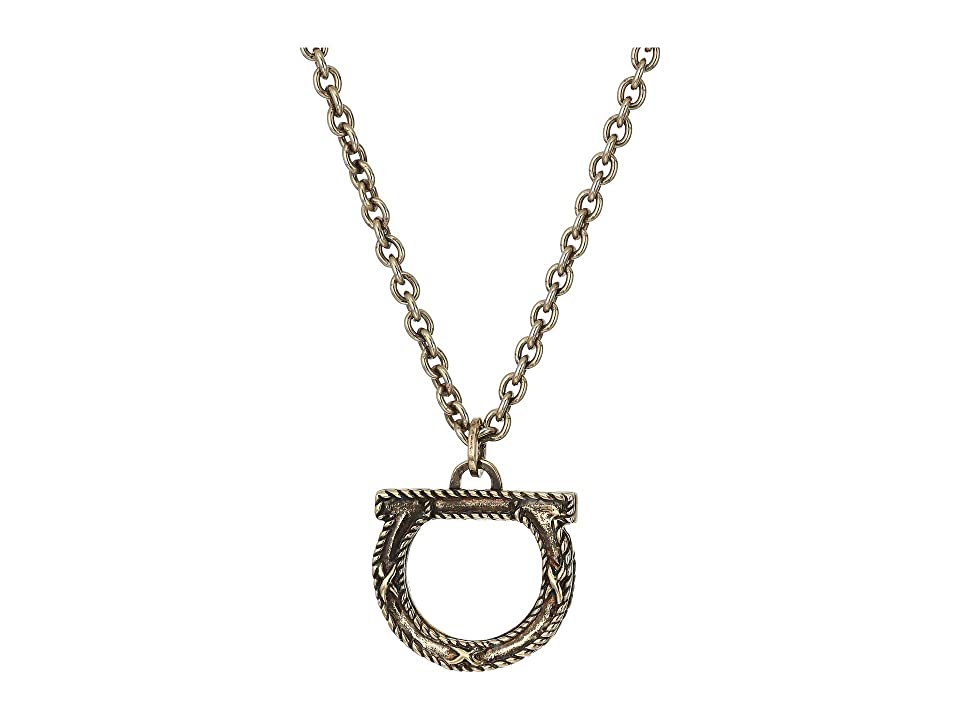 Salvatore Ferragamo - Salvatore Ferragamo Smalganc Gra Necklace