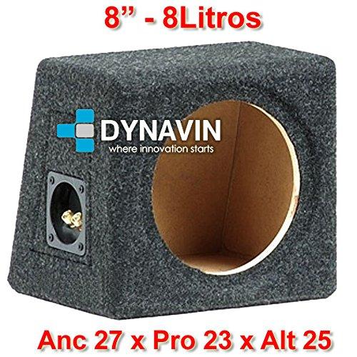 "Dynavin Caja acústica Universal para subwoofer de 8\"" (200mm), 10\"" (250mm), 12\"" (300mm), 15\"" (380mm), 18\"" (450mm) (8\"", Gris Oscuro)"