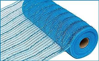 10 inch x 30 feet Thin Tinsel Foil Mesh Ribbon (Turquoise) : RY840071