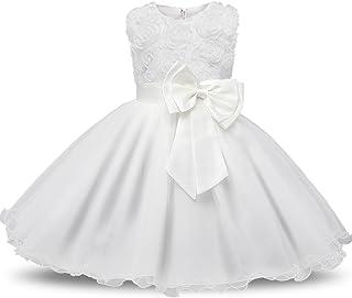 9835d1dd1ad NNJXD Robe Filles Cérémonie Bébés Filles Robes de Bal de Mariage  d anniversaire de fête