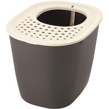 リッチェル 猫用トイレ本体 ラプレ 砂取りネコトイレ ダークグレー