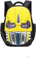 Alipher School Backpack Waterproof Kids Backpack Comic School Bag Student Bookbag Transformer Large Size Yellow