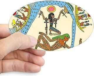 CafePress Egyptian Creation Myth Oval Bumper Sticker, Euro Oval Car Decal