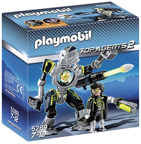 PLAYMOBIL Agentes Secretos 2 - Robot Mega Masters, Set de Juego, Multicolor, 15 x 7,5 x 15, (5289)