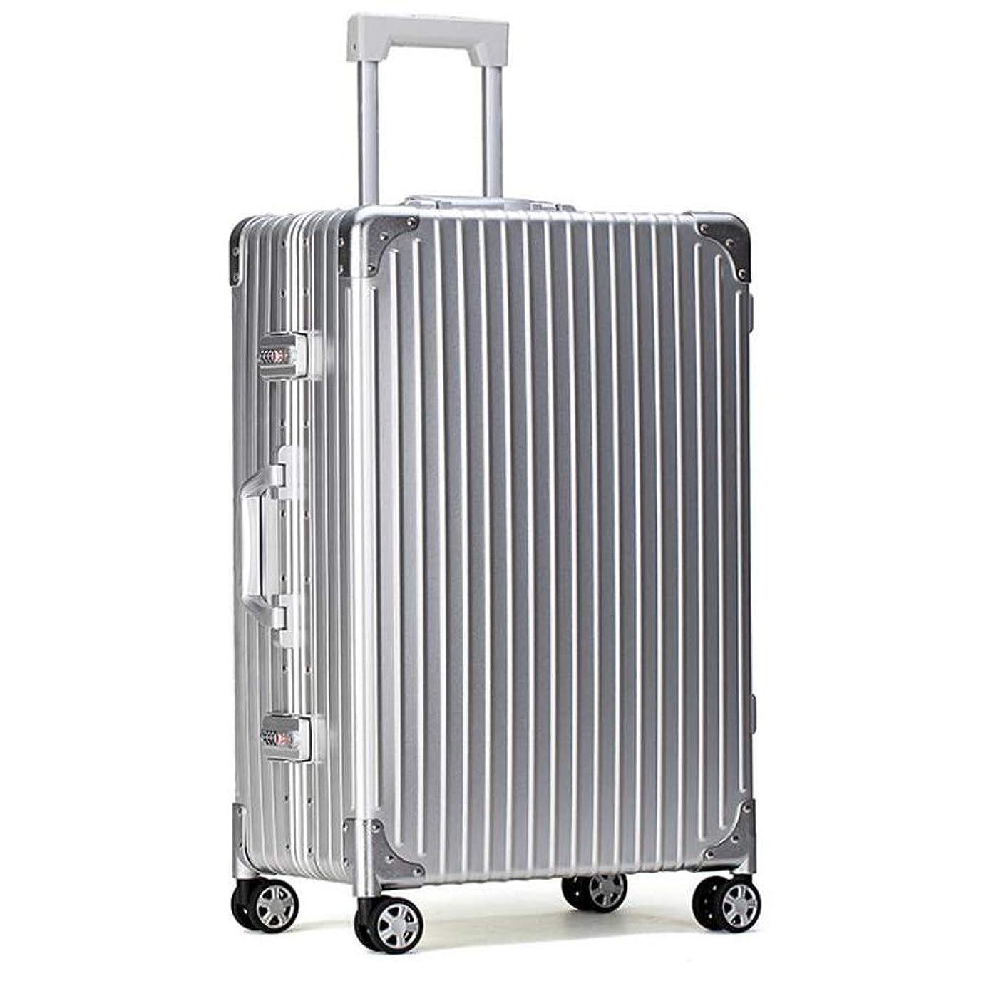 メイエラチートスケッチスーツケース軽量耐久性のあるハードシェルアルミマグネシウム合金キャビンハンド荷物スーツケーストラベルバッグ4輪&内蔵コンビネーションロック 42*25*61cm
