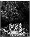 Spiffing Prints Gustave Doré - Dante'S Inferno - Limbo - Extra Large - Archival Matte - Black Frame