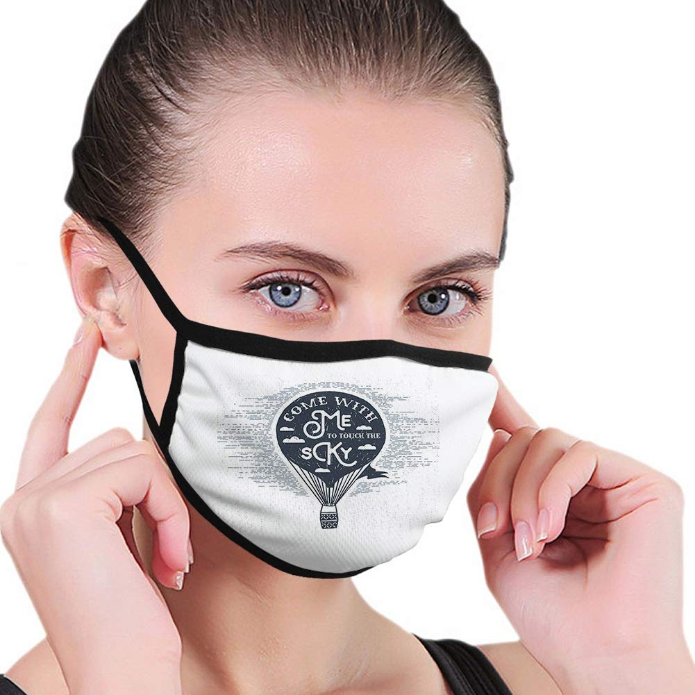 Activated Carbon Funny Popularity mask Super intense SALE Retro Hot Balloon Air Romantic with