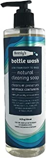 Beesly's Bottle Wash Natural DAILY Sports Bottle & Container Cleaning Soap, Biodegradable & No Chlorine Safely & Quickly Cleans & Removes Odors– PRESERVE REUSABLE BOTTLES & STRAWS 12oz