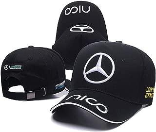 YYOUNGER Car Logo Adjustable Baseball Cap, Unisex Hat Travel Cap Car Racing Motor Hat for Benz Audi BMW Ferrari