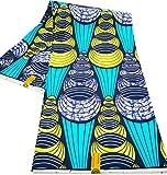 WAX TISSU AFRICAIN PAGNE imprimé 6 YARDS 100% polyester