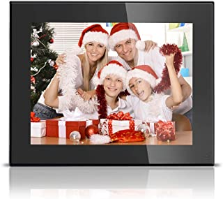BSIMB Digital Picture Frame 8 Inch HD Video Digital Slideshow Picture Frame Electronic Picture Frame with Remote Control M03 (Black)