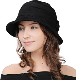 1920 Vintage Cloche Bucket Hat Ladies Church Derby Party Fashion Winter 55-59CM