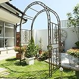 ガーデンガーデン ゴージャスアイアンアーチ 高さ213cm×幅137cm×奥行58cm 立体構造 ブロンズブラウン IPN-7973-BRZ