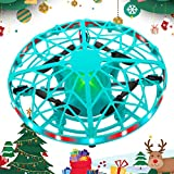 SHWD UFO Drones for Kids, Hand Operated Mini Drone Child Kids Drone with Led Lights, Levitation Flying Ball Drone Toy 360 Rotating Helicopter for Boys Girls Adult Gift Indoor Outdoor