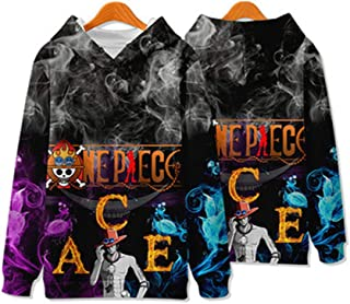 HS-QFQ One Piece 3D V00325 Ace Same Paragraph Sweatshirt Plus Velvet Navigation Cos Long Sleeve Polyester Autumn Sports,MBUST:111