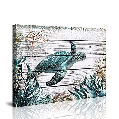 Bathroom Wall Art Ocean Sea Wall Art Green Turtle Pictures Artwork Painting Ocean Decor Canvas Prints Nautical Bathroom Art Pictures Canvas Wall Art Decor