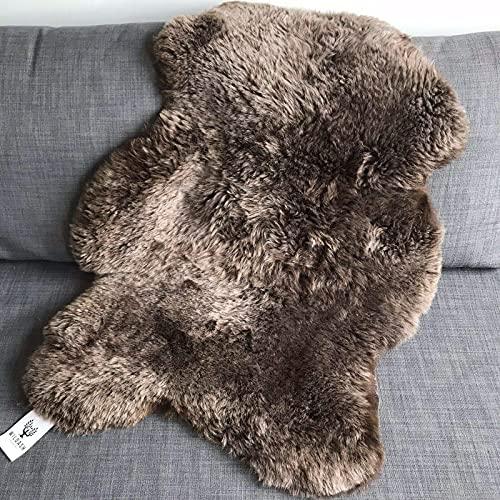 Wildash London – Icelandic Sheepskin Rug - Chestnut Brown, 5cm Shorn Pile, Super...