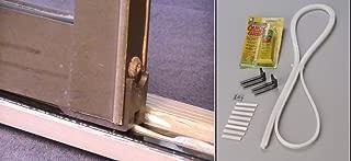 Slide-Ezzz Sliding Glass Patio Door Repair Kit in Black