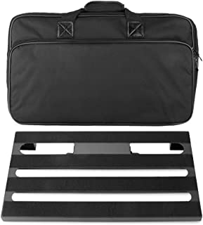 "Soyan Large Metal Guitar Pedal Board 22"" x 12.5"" with Carrying Bag, Self Adhesive Hook & Loop Tapes Included"