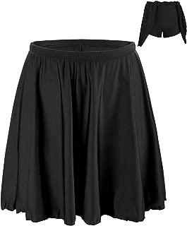 coastal rose Women's Bikini Bottom Swim Skirt High Waisted Swimsuit Bottoms