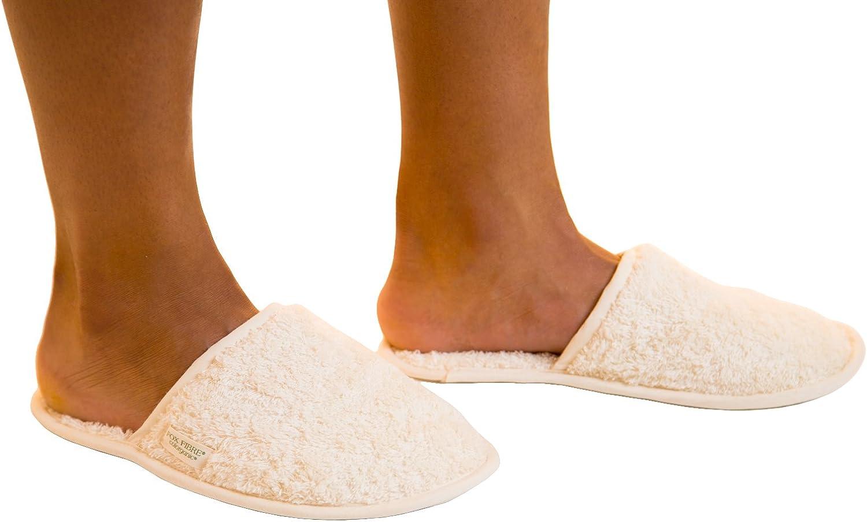 Organic Cotton Colours Certified Organic Indoor Unisex Slippers White Medium(34-38)