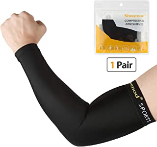 SHINYMOD Arm Sleeves UV Protection Sleeves Men Women Youth Arm Warmers Compression Sports Long Sleeves Cycling Hiking Golf Basketball Driving Fishing Tattoo Covers Elbow Sleeves