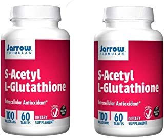 Jarrow Formulas S-Acetyl L-Glutathione - Unique Formula is Stable in The Blood as a Intracellular Antioxidant While Promot...