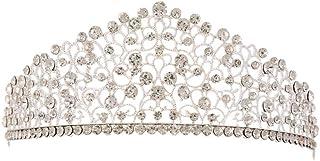 LUCKYYY Corona da Sposa Barocco Copricapo Crystal Hair Hoop Crown Capelli da Sposa
