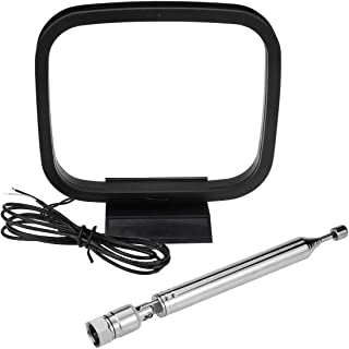 75 Ohm Radio Antenna, Ancable Indoor FM Telescopic Antenna and AM Loop Antenna Compatible with Yamaha Pioneer Marantz Onky...