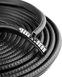OTOLIMAN Steel Coating Black Rubber 10mmx5metres(16feets) Car Door Edge Scratch Guard Trim Molding Protector Cover Full Size 5m 16feet U Shape Air Vent Edge Decoration