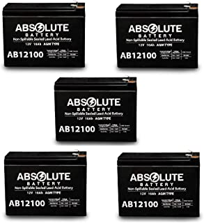 5PK 12V 10AH Replacement for Bladez Ion 450 Scooter Battery MK Battery ES10-12S