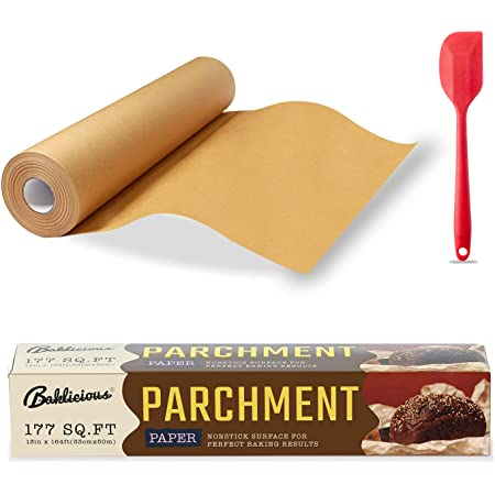 BAKLICIOUS Unbleached Parchment Paper Roll 177 Sq Ft, 13 In X 164 Ft Non-stick Baking Parchment Paper For Baking, Food Grade Cooking Papers For Baking Bread, Cookies, Heat Press, Pans, Oven, Air Fry