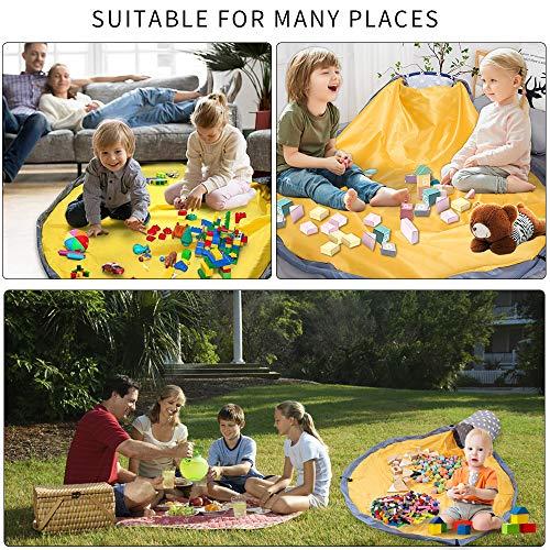 let's make おもちゃ 収納バッグ プレイマット 折り畳み 収納マット 収納袋 パズル 玩具 ブロック片づけ ランドリー収納 出産祝い 誕生日プレゼント