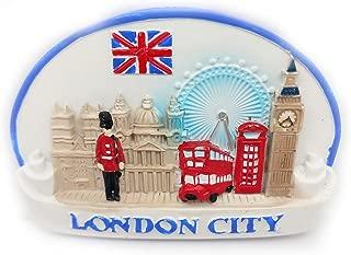 London Magnet Souvenirs United Kingdom Eye of London Big Ben Red Telephone Booth Soldier Bus1 3D Refrigerator Fridge Magnets Souvenir Sticker Kitchen Resin