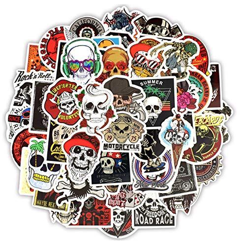 50 UNIDS Skeleton Sticker Ghost Skull Punk Rock Motocicleta Scrapbooking Pegatinas para DIY Portátil Skateboard Equipaje Guitarra Bicicleta q