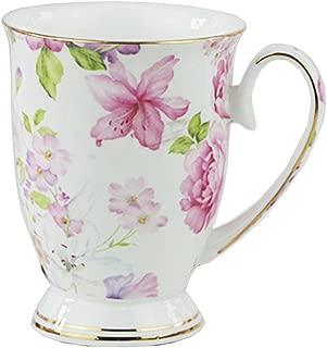 FlorisHome Fine Bone China Flower Coffee Mug Tea Cup 11 oz 330 ml