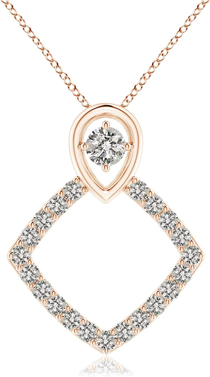 Rhombus Diamond Pendant Dealing full price reduction with Shipping included Pear Motif Inverted 2mm